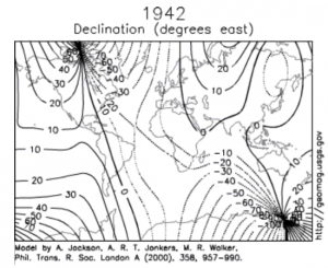 Magnetic-field-declination-map-1942